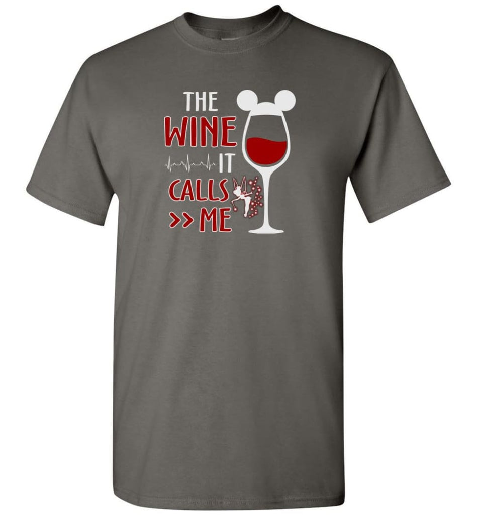The Wine It Calls Me Wine Gifts For Mom Hoodie Sweatshirt Sweater - T-Shirt - Charcoal / S