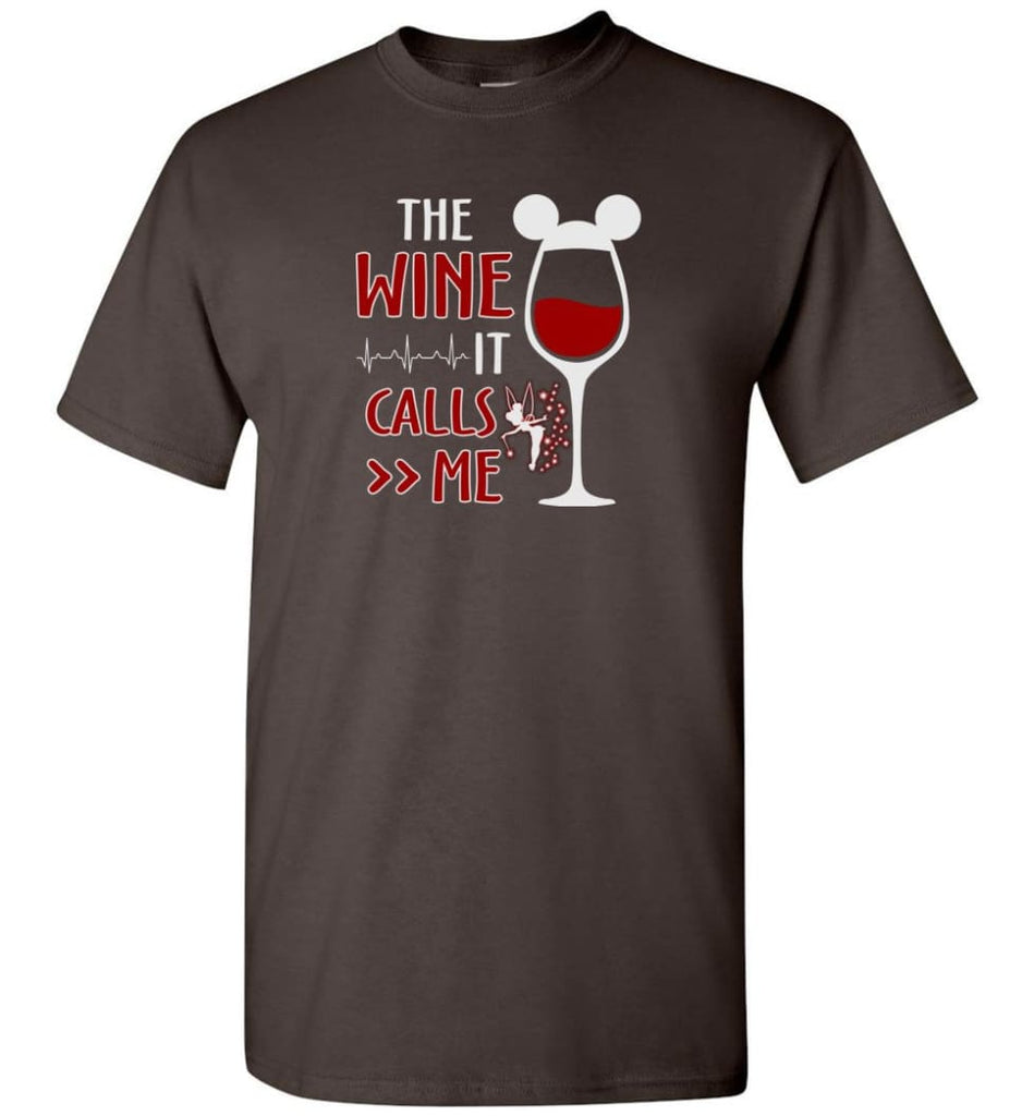 The Wine It Calls Me Wine Gifts For Mom Hoodie Sweatshirt Sweater - T-Shirt - Dark Chocolate / S
