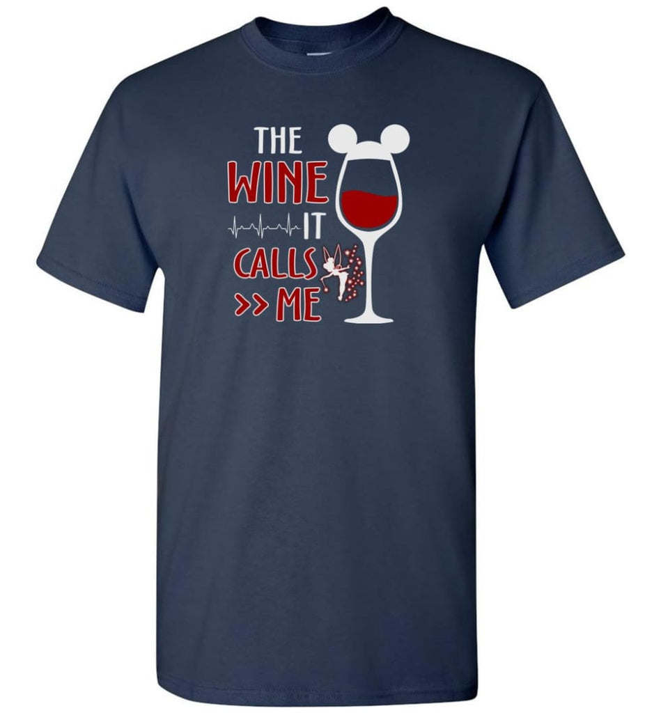 The Wine It Calls Me Wine Gifts For Mom Hoodie Sweatshirt Sweater - T-Shirt - Navy / S