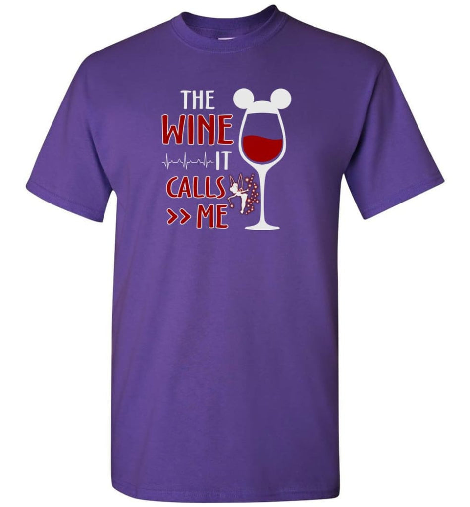 The Wine It Calls Me Wine Gifts For Mom Hoodie Sweatshirt Sweater - T-Shirt - Purple / S