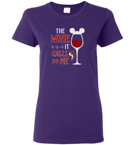 The Wine It Calls Me Wine Gifts For Mom Hoodie Sweatshirt Sweater - Women T-shirt - Purple / M