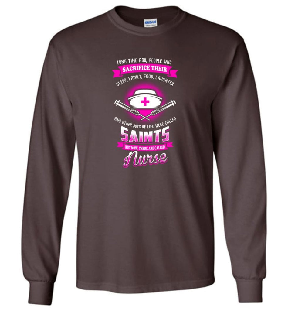 They are called Nurse Shirt - Long Sleeve T-Shirt - Dark Chocolate / M