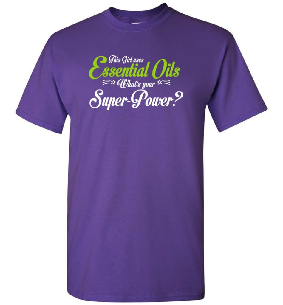 This Girl Uses Essential Oils T-Shirt - Purple / S