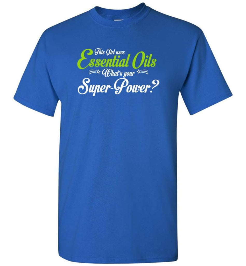 This Girl Uses Essential Oils T-Shirt - Royal / S