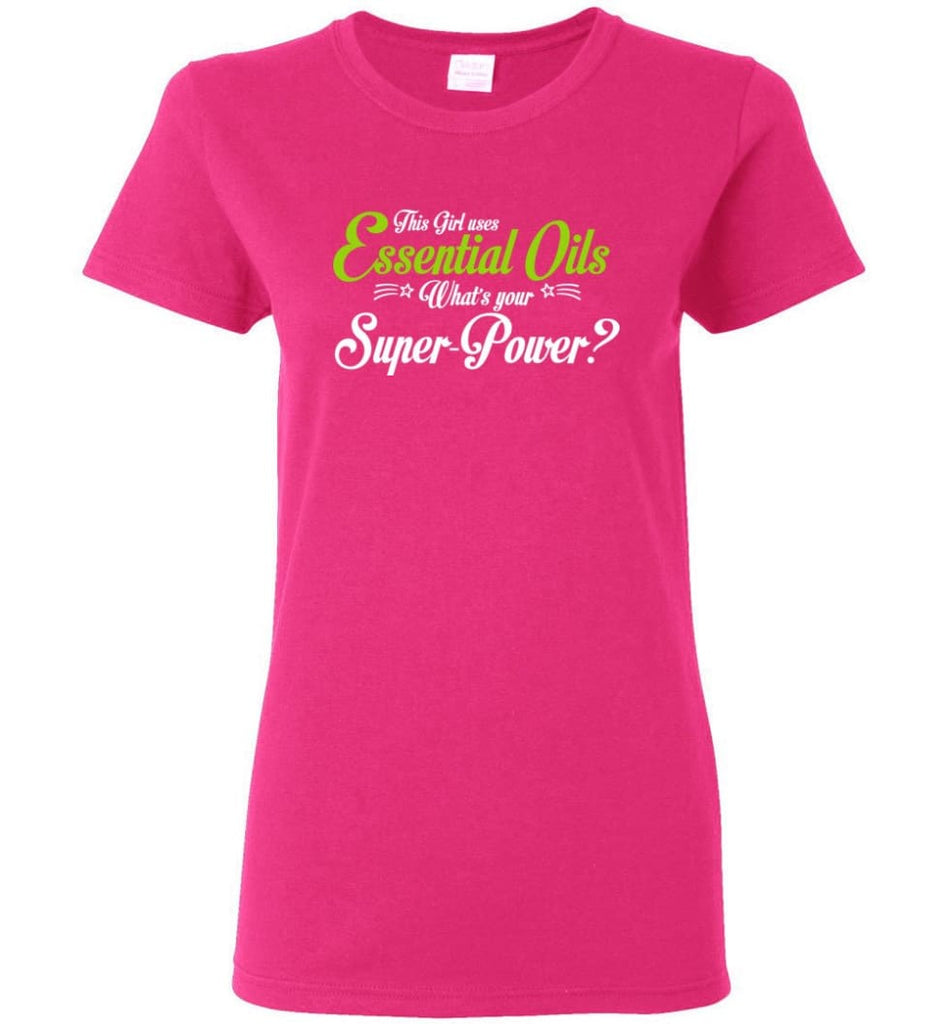 This Girl Uses Essential Oils Women Tee - Heliconia / M