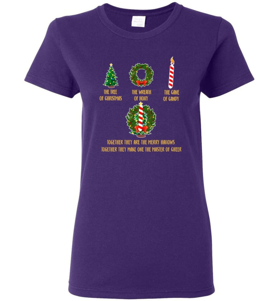 Together They Are Merry Hallows Together They Make One The Master Of Cheer Women Tee - Purple / M