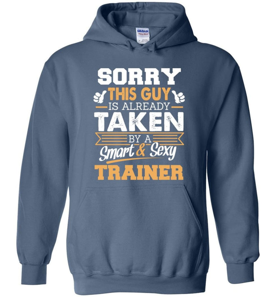 Trainer Shirt Cool Gift for Boyfriend Husband or Lover - Hoodie - Indigo Blue / M