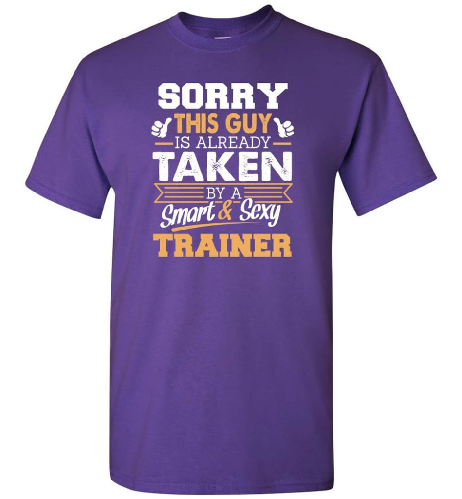 Trainer Shirt Cool Gift for Boyfriend Husband or Lover - Short Sleeve T-Shirt - Purple / S