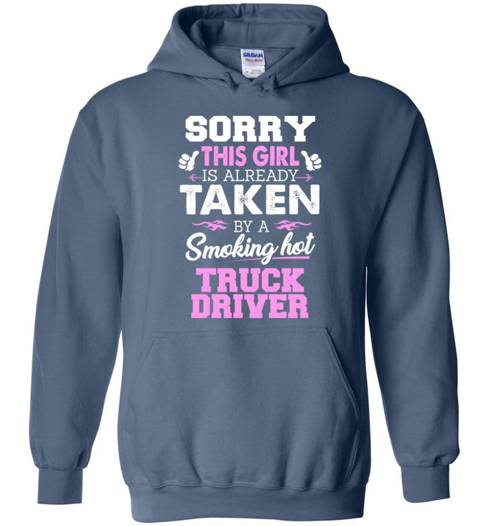 Truck Driver Shirt Cool Gift for Girlfriend Wife or Lover - Hoodie - Indigo Blue / M