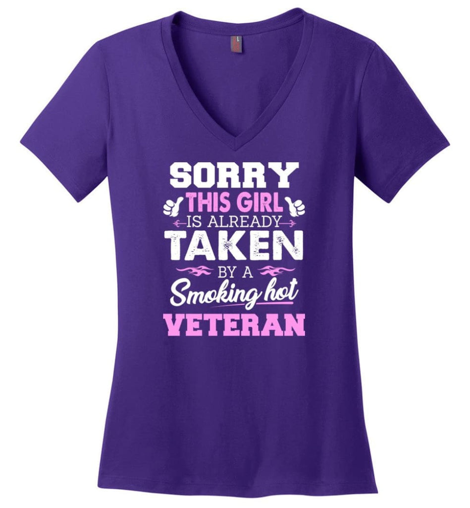 Truck Driver Shirt Cool Gift for Girlfriend Wife or Lover Ladies V-Neck - Purple / M - 6