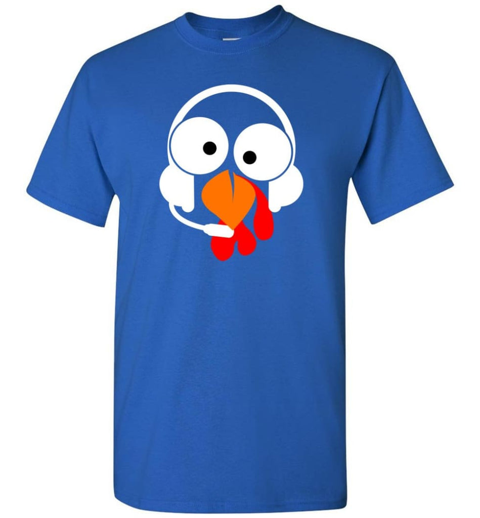 Turkey Face Dispatcher Thanksgiving Gifts T-Shirt - Royal / S