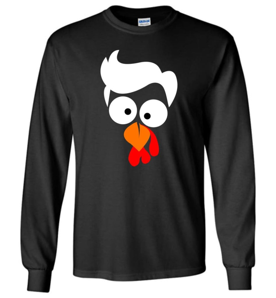 Turkey Face Lawyer Thanksgiving Gifts Long Sleeve T-Shirt - Black / M