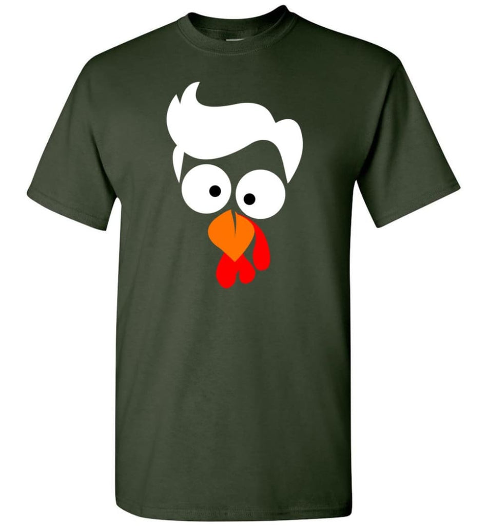 Turkey Face Lawyer Thanksgiving Gifts T-Shirt - Forest Green / S