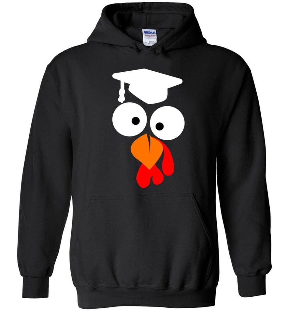 Turkey Face Teacher Thanksgiving Gifts Hoodie - Black / M