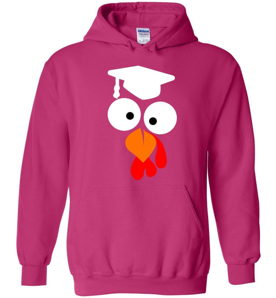 Turkey Face Teacher Thanksgiving Gifts Hoodie - Heliconia / M
