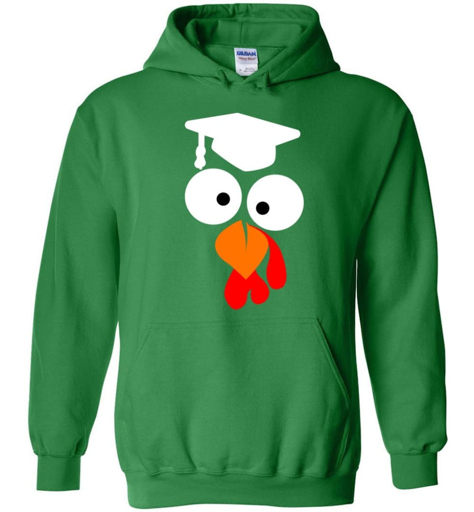 Turkey Face Teacher Thanksgiving Gifts Hoodie - Irish Green / M