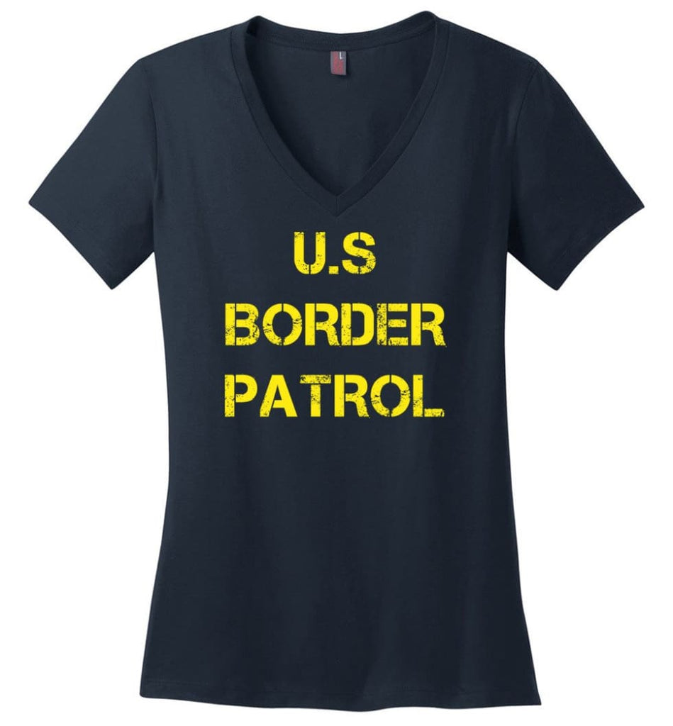 Us Border Patrol Ladies V-Neck - Navy / M