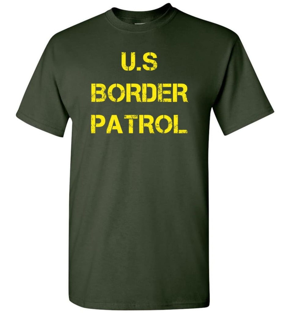 Us Border Patrol T-Shirt - Forest Green / S