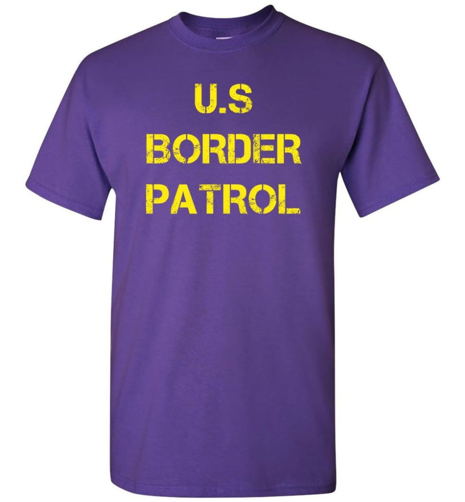 Us Border Patrol T-Shirt - Purple / S