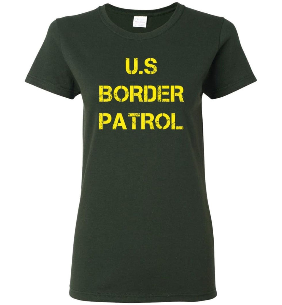 Us Border Patrol Women Tee - Forest Green / M