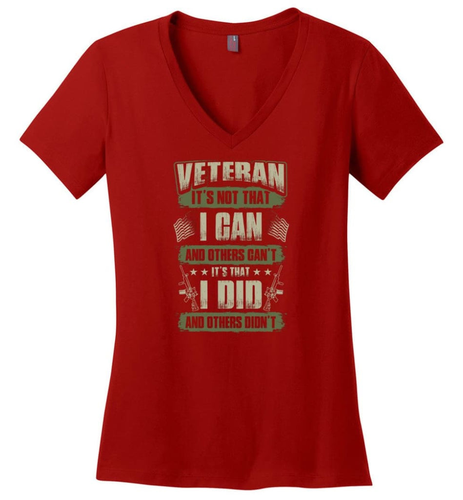 US Veteran Affairs Shirt I Didnt't Fight Ladies V-Neck - Red / M