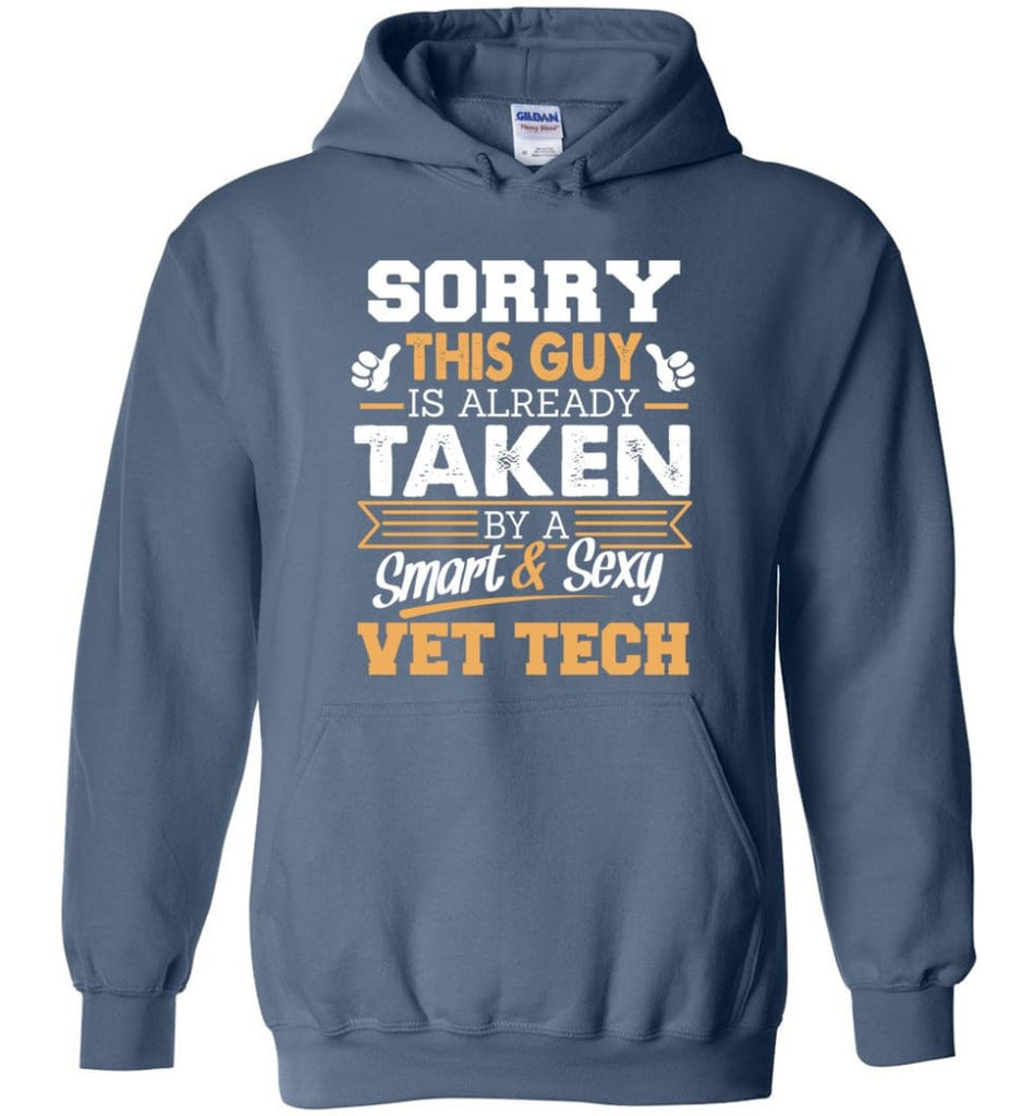 Vet Tech Shirt Cool Gift For Boyfriend Husband Hoodie - Indigo Blue / M