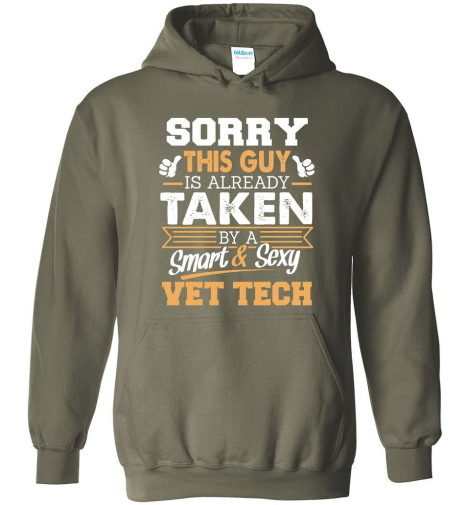 Vet Tech Shirt Cool Gift For Boyfriend Husband Hoodie - Military Green / M