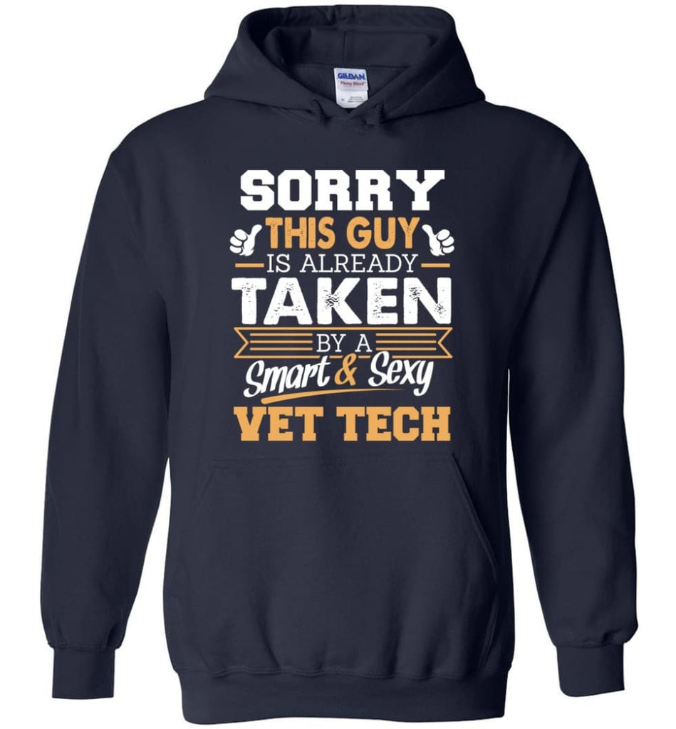 Vet Tech Shirt Cool Gift For Boyfriend Husband Hoodie - Navy / M
