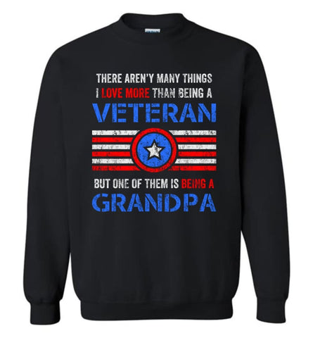Veteran Grandpa T Shirt Combat Veteran Sweatshirt Proud Navy Grandpa Sweatshirt - Black / M