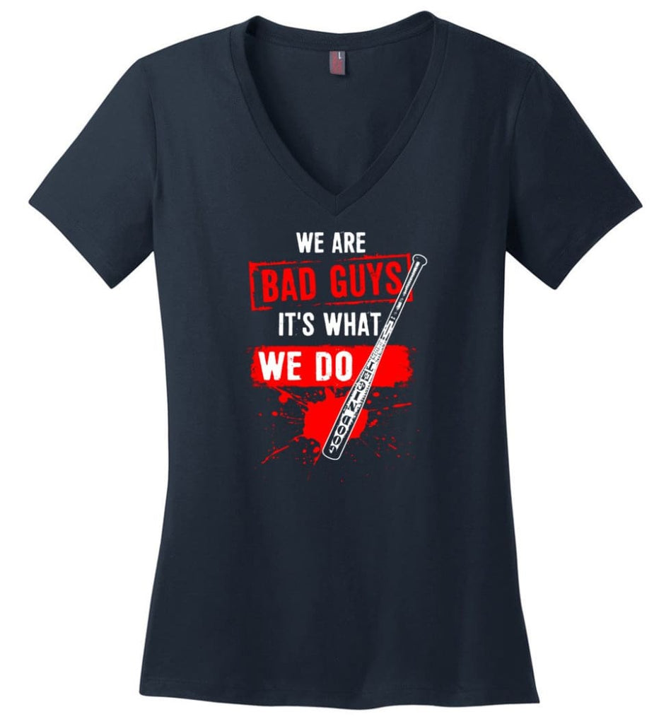 Veteran Shirt ALWAYS REMEMBER NEVER FORGET T Shirt (2) Ladies V-Neck - Navy / M
