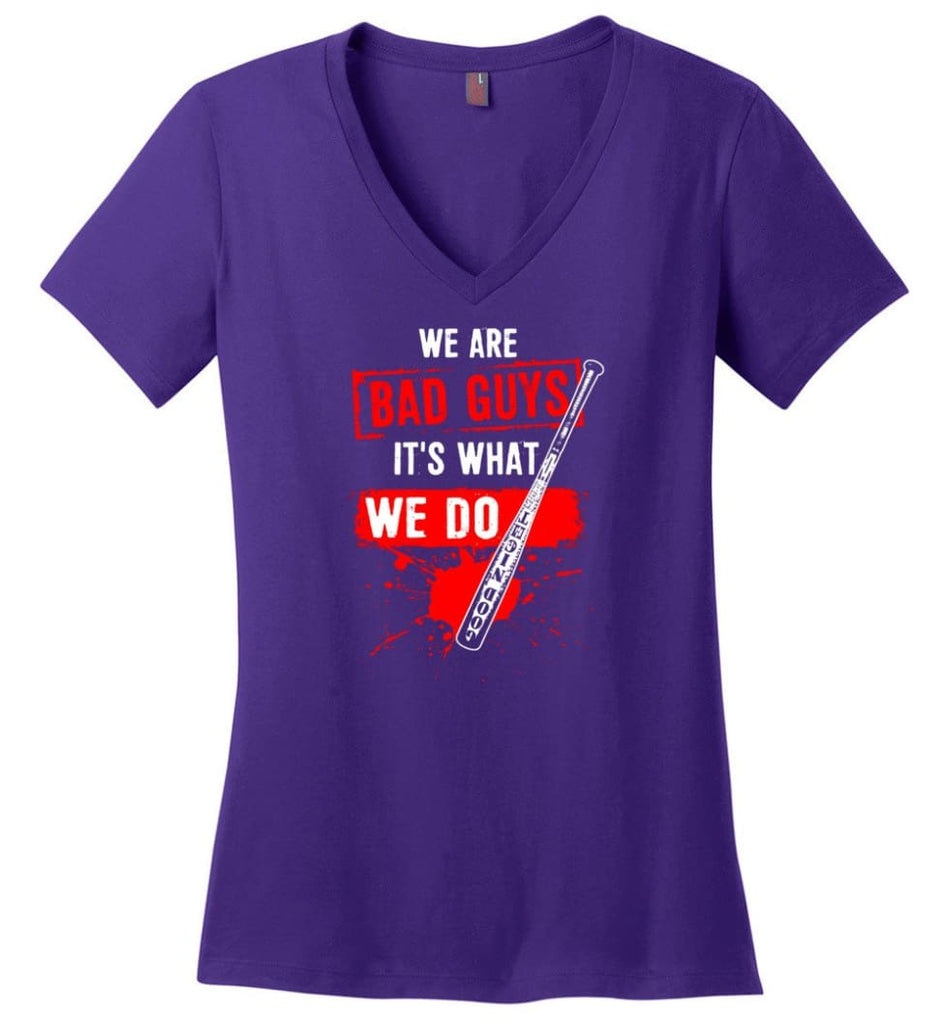 Veteran Shirt ALWAYS REMEMBER NEVER FORGET T Shirt (2) Ladies V-Neck - Purple / M