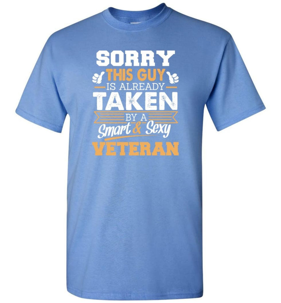 Veteran Shirt Cool Gift for Boyfriend Husband or Lover - Short Sleeve T-Shirt - Carolina Blue / S