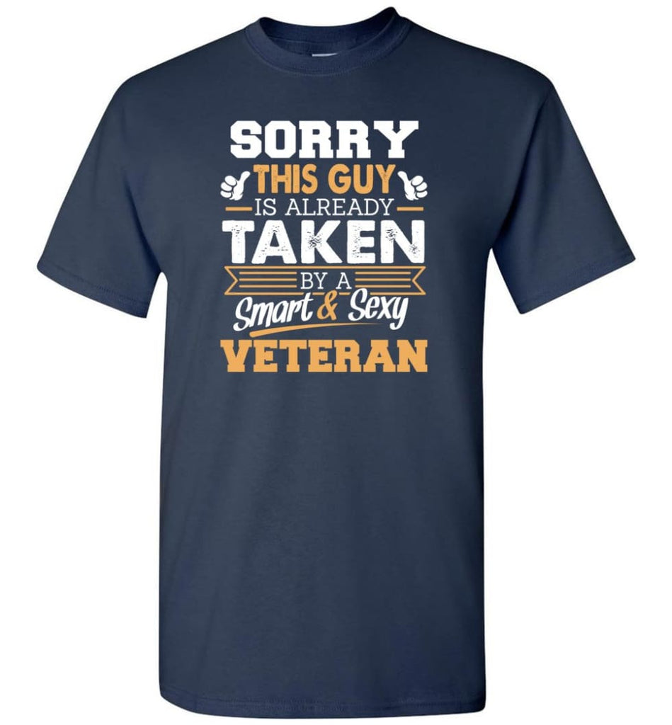 Veteran Shirt Cool Gift for Boyfriend Husband or Lover - Short Sleeve T-Shirt - Navy / S
