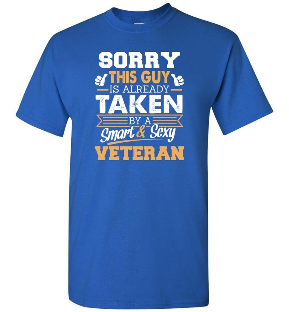 Veteran Shirt Cool Gift for Boyfriend Husband or Lover - Short Sleeve T-Shirt - Royal / S