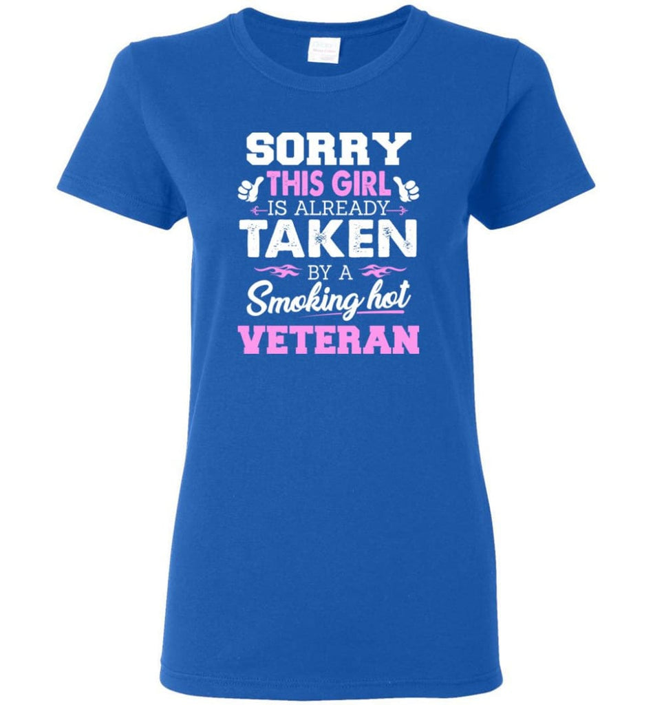 Veteran Shirt Cool Gift for Girlfriend Wife or Lover Women Tee - Royal / M - 8