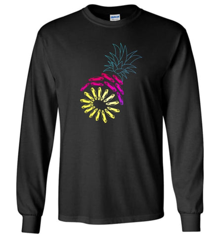 Vintage Car Pineapple Funny Graphic - Long Sleeve - Black / M - Long Sleeve