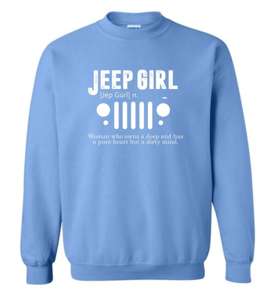 Vintage Jeep Shirt Pure Heart But Dirty Mind Hooded Sweatshirt Jeep Girl Jeep Wife Sweatshirt - Carolina Blue / M -