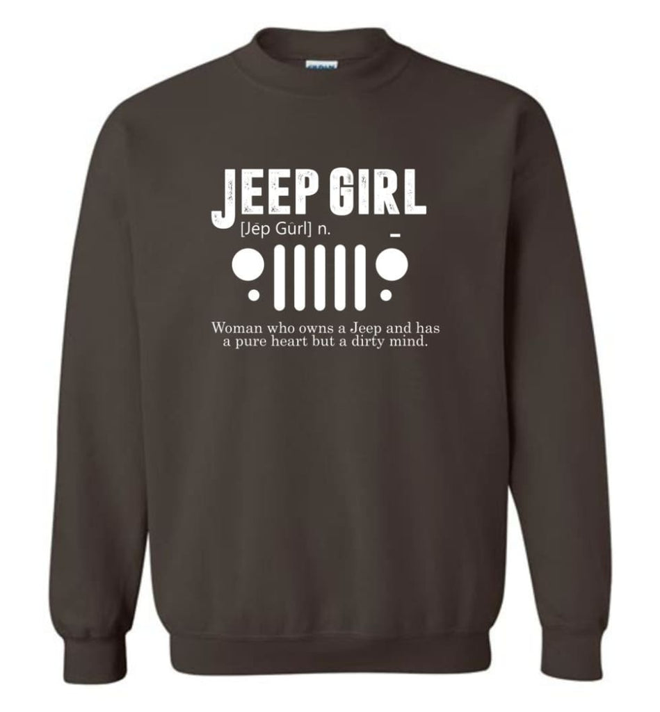 Vintage Jeep Shirt Pure Heart But Dirty Mind Hooded Sweatshirt Jeep Girl Jeep Wife Sweatshirt - Dark Chocolate / M -