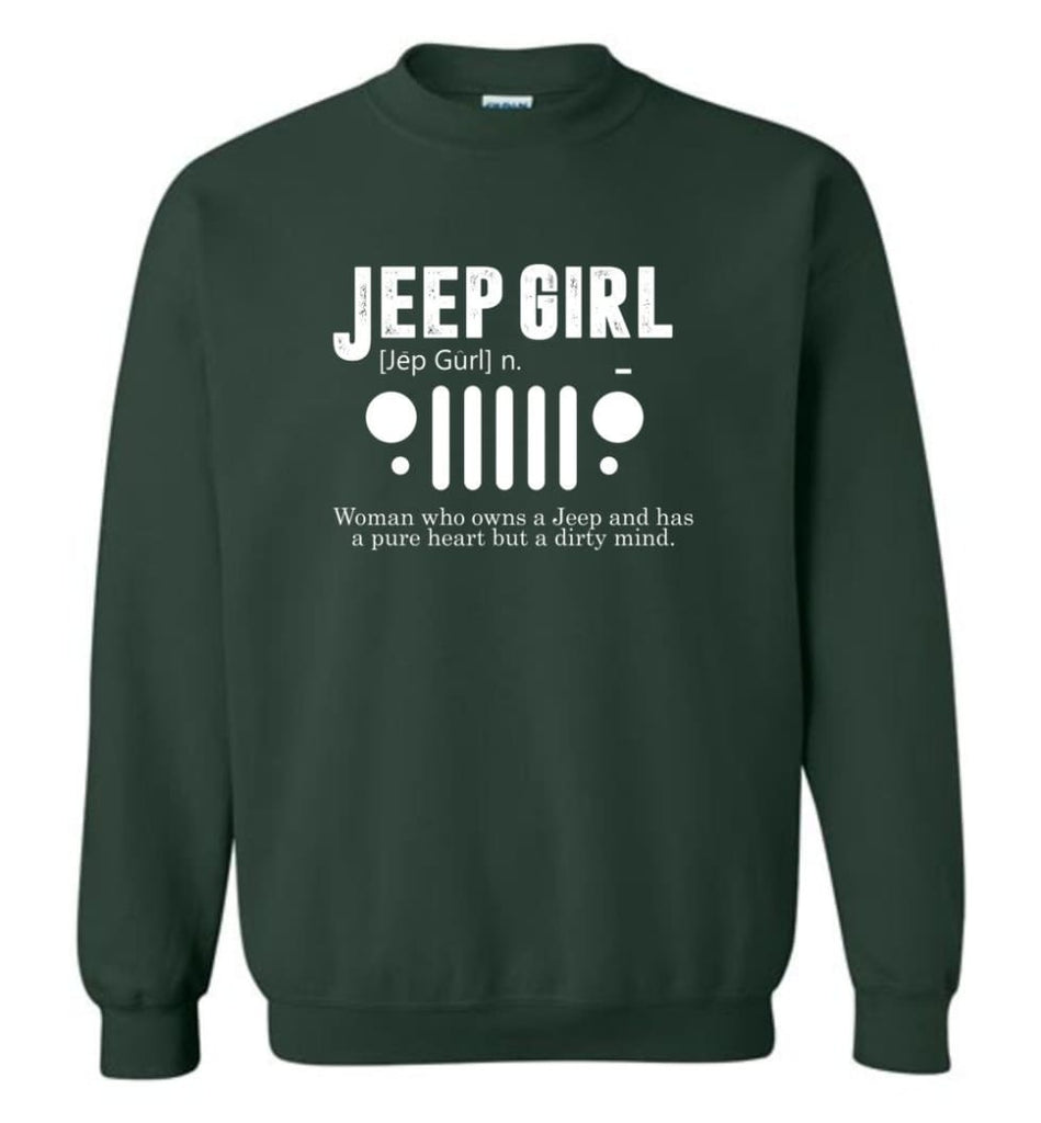Vintage Jeep Shirt Pure Heart But Dirty Mind Hooded Sweatshirt Jeep Girl Jeep Wife Sweatshirt - Forest Green / M -
