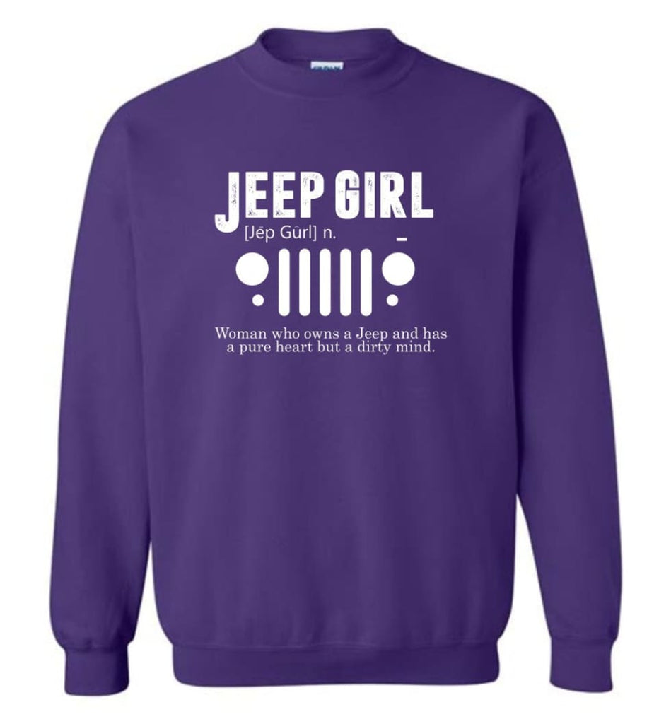 Vintage Jeep Shirt Pure Heart But Dirty Mind Hooded Sweatshirt Jeep Girl Jeep Wife Sweatshirt - Purple / M - Sweatshirt