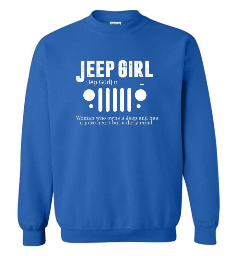 Vintage Jeep Shirt Pure Heart But Dirty Mind Hooded Sweatshirt Jeep Girl Jeep Wife Sweatshirt - Royal / M - Sweatshirt
