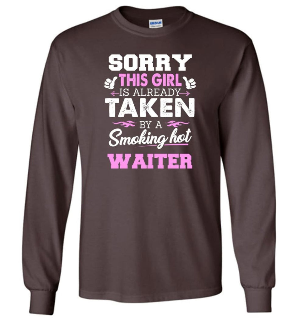 Waiter Shirt Cool Gift For Girlfriend Wife Long Sleeve - Dark Chocolate / M