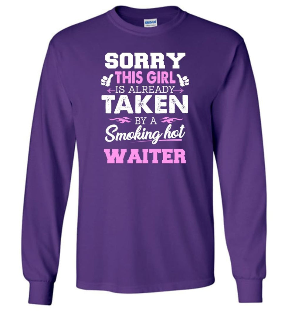 Waiter Shirt Cool Gift For Girlfriend Wife Long Sleeve - Purple / M