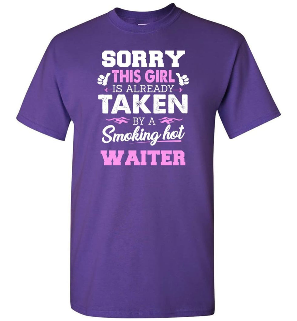 Waiter Shirt Cool Gift for Girlfriend Wife or Lover - Short Sleeve T-Shirt - Purple / S