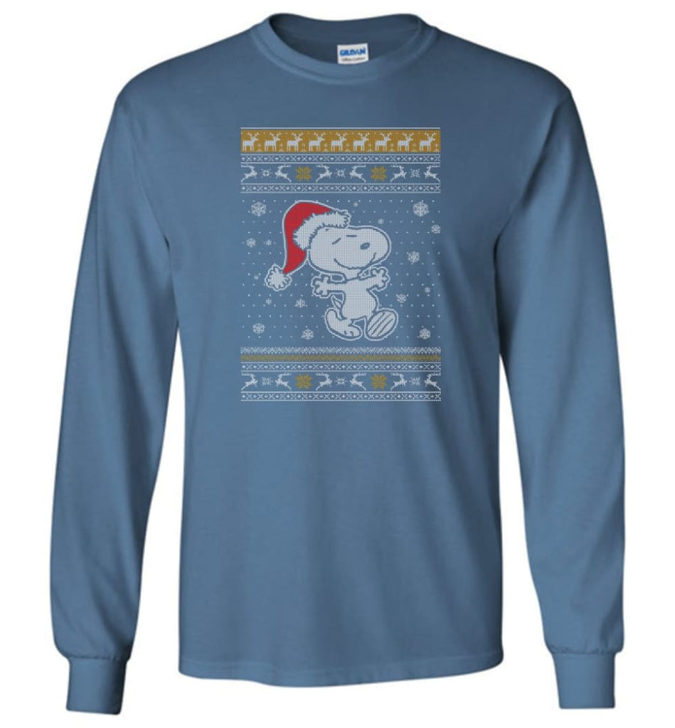 Want A Hug Snoopy Hoodie Sweatshirt Peanuts Snoopy Christmas Sweater Toddler 2017 Long Sleeve T-Shirt - Indigo Blue / M