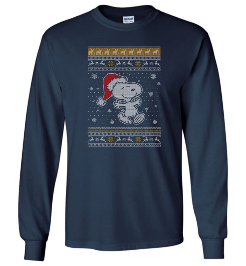 Want A Hug Snoopy Hoodie Sweatshirt Peanuts Snoopy Christmas Sweater Toddler 2017 Long Sleeve T-Shirt - Navy / M