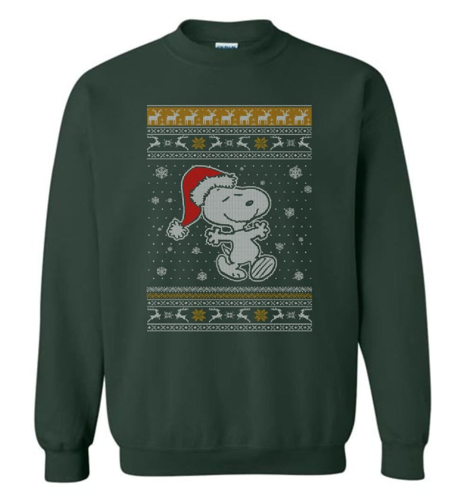 Want A Hug Snoopy Hoodie Sweatshirt Peanuts Snoopy Christmas Sweater Toddler Sweatshirt - Forest Green / M