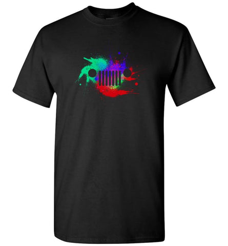 Watercolor Jeep Grill - T-Shirt - Black / S - T-Shirt