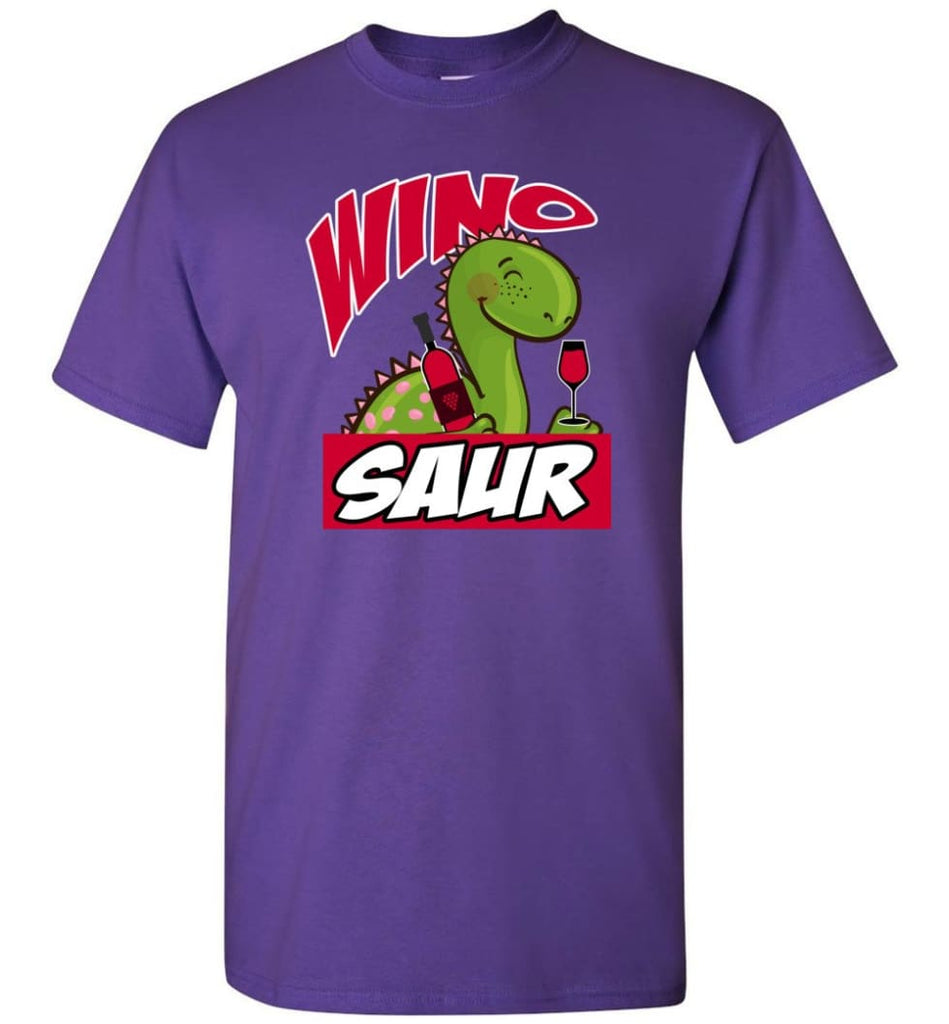 Wino Saur Dinosaur Funny Shirt Birthday Gift For Kids T-Shirt - Purple / S