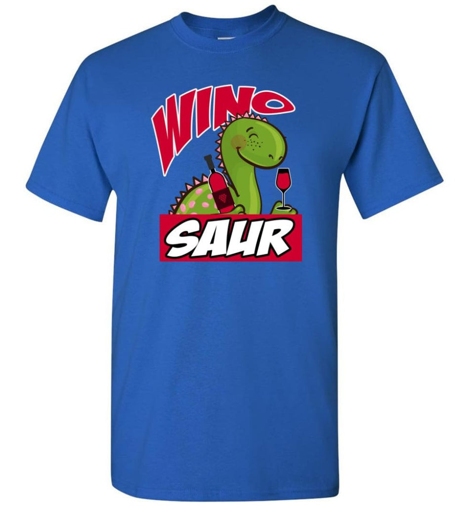 Wino Saur Dinosaur Funny Shirt Birthday Gift For Kids T-Shirt - Royal / S